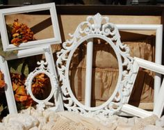 Antique White Picture Frame Set Of 12 Open by SeaLoveAndSalt
