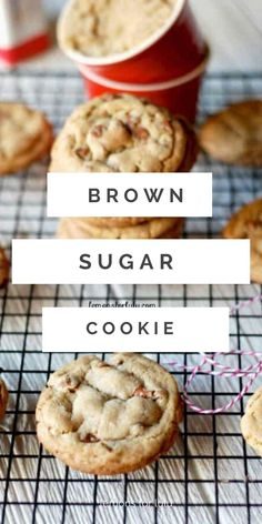 Thin and chewy brown sugar cookies! Each cookie has a generous amount of cinnamon taste and loads of cinnamon chips! Brown Sugar Cookie Recipe, Brown Sugar Cookies, Cinnamon Cookies, Sugar Cookies Recipe, Cinnamon Chips, Holiday Cookie Recipes, Best Cookie Recipes, Sweet Recipes, Baking Recipes