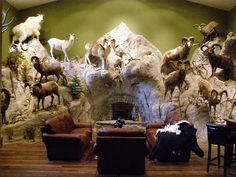 Check out the Naber's Taxidermy virtual show room, which features shoulder, antler and life-size mounts from North America, Africa, Asia and beyond! Custom Trophies, Trophy Rooms, Rock Wall, The Visitors, Game Room, Custom Design, Lion Sculpture, Hunting, Crib