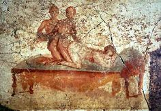"""The Italian far-right party """"Forza Nuova"""" is protesting against a Gay Pride Parade in Pompeii, because it's against Italian values. Meanwhile in the old Pompeii. Ancient Rome, Ancient Art, Ancient History, Roman History, Art History, Pompeii And Herculaneum, Pompeii Ruins, Pompeii Italy, Ancient Civilizations"""