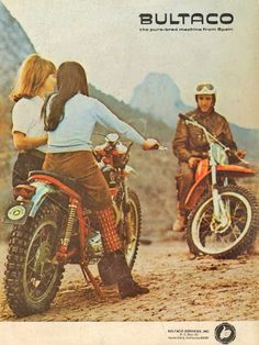 Bultaco Motorcycle advert | Cool Bikes | Pinterest