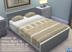 Sims 4 Studio by orangemittens http://www.sims4studio.com/thread/718/sophia-bedding-standalone-recolor-swatches