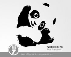 cricut vinyl projects High quality vector drawings in 5 different formats: SVG EPS DXF PDF PNG in a zip file. Terms of use: Personal use only Make your own Bundle Use Stencil Printing, Stencil Art, Cute Animal Drawings, Cute Drawings, Teddy Bear Tattoos, Graphic Design Lessons, Family Print, Animal Silhouette, Cute Panda