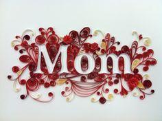 Quilling, Framed for Mom, Mothers Day, Handmade Paper Filigree Original Art via Etsy