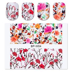 BORN PRETTY 2 Patterns Pretty Flower Nail Art Water Decals Transfer Sticker BORN PRETTY BPW04 >>> Be sure to check out this awesome product. (This is an affiliate link) #NailDecalsandDecorations