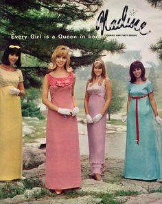 Live the flip hairdo! 1960s Fashion Dress, 70s Women Fashion, Seventies Fashion, Teen Fashion, Retro Fashion, Vintage Fashion, 1967 Fashion, Vintage Couture, Vintage Prom