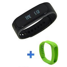 Forestfish Bluetooth Sync Smart Bracelet Sports Fitness Tracker Smart Wristband Water Resistant Tracker Bracelet Sleep Monitoring Anti-lost Smart Watch (Black+Light Green Bracelet) - http://www.exercisejoy.com/forestfish-bluetooth-sync-smart-bracelet-sports-fitness-tracker-smart-wristband-water-resistant-tracker-bracelet-sleep-monitoring-anti-lost-smart-watch-blacklight-green-bracelet/fitness/