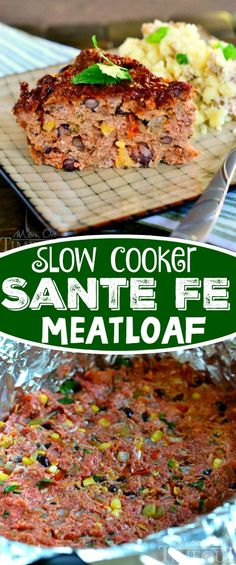 Slow Cooker Sante Fe Meatloaf recipe is a fantastic way to get a delicious meal on the table without all the stress! A fantastic recipe that is sure to become a new family favorite! Slow Cooker Creamed Corn, Crock Pot Slow Cooker, Crock Pot Cooking, Slow Cooker Recipes, Crockpot Recipes, Cooking Recipes, Healthy Recipes, Salad Recipes, What's Cooking