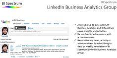 BI Spectrum LinkedIn group – all about Business Analytics