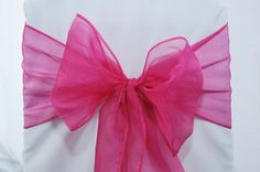 Find great #deals on #SimplyElegantChairCovers for #Organza #Wedding #Chair #Sashes. #Shop with #confidence  #michigan #HotPink #rentalpinksashes