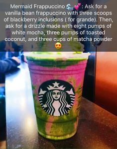 Starbucks Hacks, Starbucks Frappuccino, Healthy Starbucks Drinks, Yummy Drinks, How To Order Starbucks, Starbucks Refreshers, Starbucks Secret Menu Items, Starbucks Secret Menu Drinks, Coffee Recipes