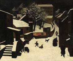 Related image Winter Landscape, Urban Landscape, Pablo Picasso, Albertina Wien, Magic Realism, Surrealism Painting, Artsy Fartsy, Architecture Art, Landscape Paintings