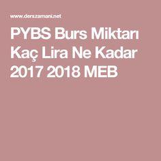 PYBS Burs Miktarı Kaç Lira Ne Kadar 2017 2018 MEB