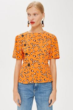 30c071e90f Animal Print Button Blouse - Shirts  amp  Blouses - Clothing - Topshop  Europe Print Button