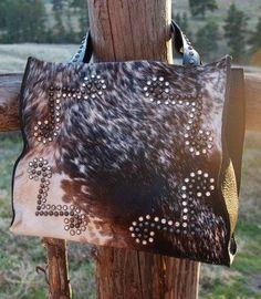 Arohoe salt & pepper 4 corner bag cowhide purse @ LEGENDARY WESTERN