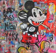 Shop Modern Paintings created by thousands of emerging artists from around the world Mickey Love, Mickey Mouse Art, Troy, Norman, Original Art, Original Paintings, Air Brush Painting, Paintings For Sale, Love Art