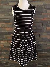 Blue white striped sleeveless dress
