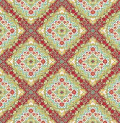 this totally reminds me of an album cover from The Church - Joel Dewberry  - NOTTING HILL for Free Spirit Fabric - Kaleidoscope in Poppy PWJD065 - 1 yard. $9.50, via Etsy.