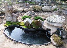 miniature or fairy gardening w water!