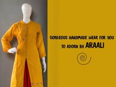 Gorgeous handmade wear for u to adorn by #ARAALI. Address: 26, 1st Floor, Mansi Complex, Mansi Cross Roads, Vastrapur, Ahmedabad. Contact: 9376040402 #Fashion #Clothing #Accessories #Araali #CityShorAhmedabad