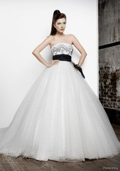 wanted black and white for my wedding, but was talked out of it.  too bad, 'cuz I will not need another gown!