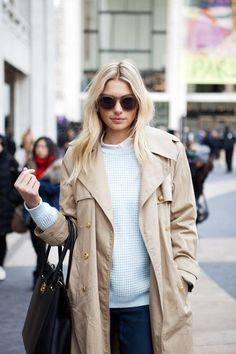 A trench with layers