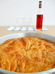 Pastry Recipes, Cookbook Recipes, Pie Recipes, Dessert Recipes, Cooking Recipes, Desserts, Macedonian Food, Middle Eastern Recipes, Aesthetic Food