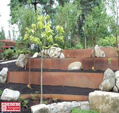 43 Trendy landscaping ideas for slopes retaining walls corten steel Landscaping With Rocks, Modern Landscaping, Outdoor Landscaping, Landscaping Ideas, Small Backyard Pools, Backyard Patio, Steel Retaining Wall, Retaining Walls, Landscape Design