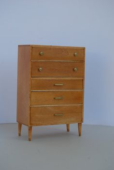 1:12 scale // tiny mid-century dresser by minisx2 on Etsy