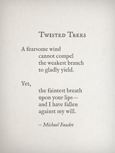 And I would do it all over again. Gladly.  Twisted Trees by Michael Faudet Follow him here
