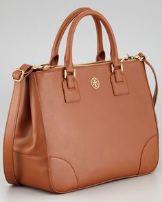 Tory Burch Robinson Double Zip-Pocket Tote Bag