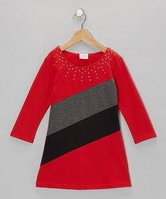 Take a look at this Red French Terry Dress - Girls by S.W.A.K. on #zulily today!$6.49---up to size 16!