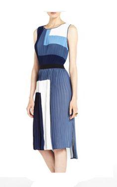 Bcbg evening dresses online runway celebrity colorblocked dress blue on sale bd0101105 DS87  £91.43 Save: 73% off buy at http://www.osc-shoe.co.uk