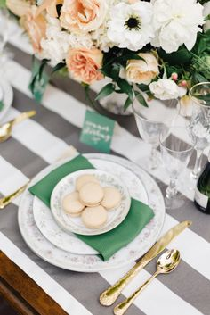 Perfectly executed place setting: http://www.stylemepretty.com/washington-weddings/bellingham/2014/12/03/french-elegance-wedding-inspiration/   Photography: Joe and Patience - http://joeandpatience.com/