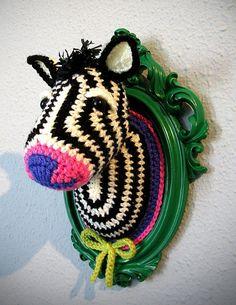 NOT MY WORK! Crochet Zebra by Manafka Mina by cocoaeyes, via Flickr