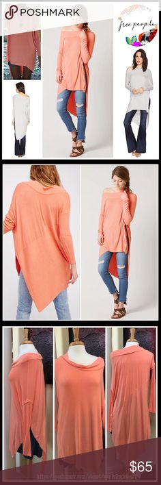"""❗1-HOUR SALE❗PULLOVER TUNIC Mini Oversized Top 💟NEW WITH TAGS💟   SIZING- S = 4-6 PULLOVER TUNIC Oversized Top  * Designed to drape off your shoulder  * Long sleeves w/ribbed cuffs  * Subtly oversized, swing silhouette  * Super soft & comfy stretch-to-fit fabric  * Approx 28.5"""" - 38.5"""" long, tunic length  * Bateau neck & Hi-lo hem; Relaxed fit   Fabric- 97% rayon, 3% spandex  Color-Coral Item# F95800  Search words # boyfriend slouchy   🚫No Trades🚫 ✅ Offers Considered*✅  *Please use the…"""