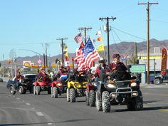 Quartzsite is an ATV Friendly town. Snowbirds flock to Quartzsite each winter enjoying the mild temperatures and gorgeous sunrises and sunsets. Hundreds of miles of trails lead to beautiful scenery. http://www.VisitQuartzsite.com