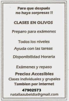 Clases en Olivos: CLASES EN OLIVOS