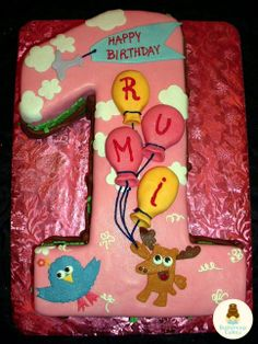 Bird And Moose Birthday Cake Dani Borow Cartoon Character Cakes
