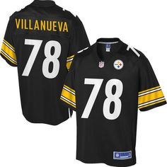 Men's Pittsburgh Steelers Alejandro Villanueva NFL Pro Line Team Color Jersey Size: 2XL