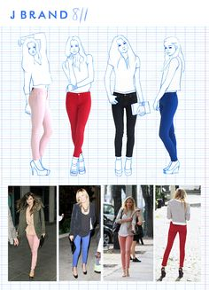 Colorful Skinny Jeans!  #jeans