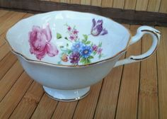 Vintage Paragon China Light Pastel Blue teacup with Floral Bouquet Design ■ | Pottery & Glass, Pottery & China, China & Dinnerware | eBay!