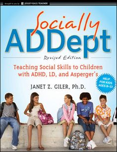 Socially ADDept helps educators and parents teach the hidden rules of social behavior to children with limited social skills, notably those with special needs like ADHD, learning disabilities, autism spectrum disorders, Tourette Syndrome, and nonverbal learning disabilities. I think my school needs this!!!!