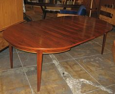 Danish Mid Century Modern Extendable Rosewood Dining Table Part 66