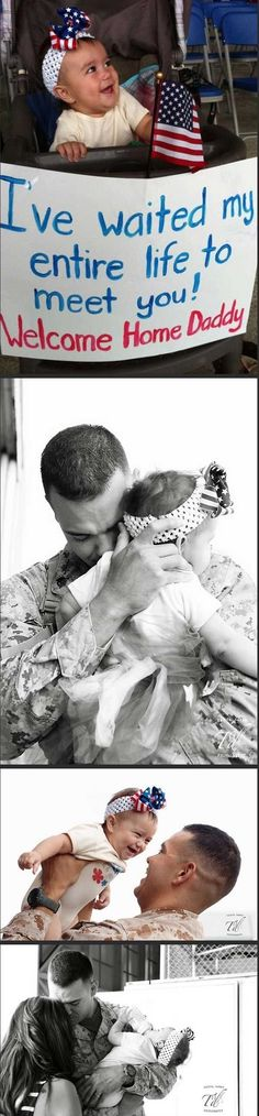 A father coming home to his family