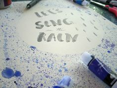 It's Raining Watercolors (how to splatter paint) - 70 Times Seven