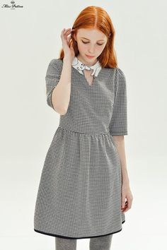 Love Cat Dress (Dogtooth) - Miss Patina - Vintage Inspired Fashion