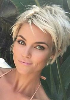 Short Hair Styles : Description 45 Best Short Haircuts for 2019 - Get Your Haircut Inspiration TODAY!, Best Short Haircuts First of all, healthy beautiful hair is in fashion in every season, Short Grey Hair, Short Hair With Layers, Blonde Short Hair Pixie, Short Hair Cuts For Fine Thin Hair, Funky Blonde Hair, Growing Out Short Hair, Cute Short Hair, Platinum Blonde Pixie, Short Hair Back