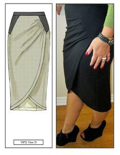 mimi g.: DIY Skirt: Pattern Review V8711 View D: