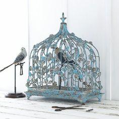 Rose bleu romantique birdcage  @an angel at my table
